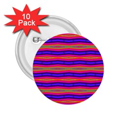 Bright Pink Purple Lines Stripes 2 25  Buttons (10 Pack)  by BrightVibesDesign