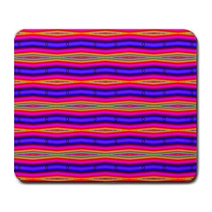 Bright Pink Purple Lines Stripes Large Mousepads by BrightVibesDesign
