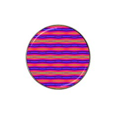 Bright Pink Purple Lines Stripes Hat Clip Ball Marker by BrightVibesDesign