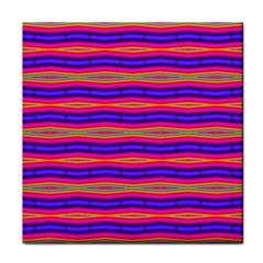 Bright Pink Purple Lines Stripes Face Towel by BrightVibesDesign