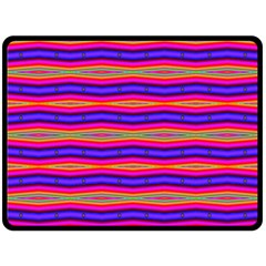 Bright Pink Purple Lines Stripes Fleece Blanket (large)  by BrightVibesDesign