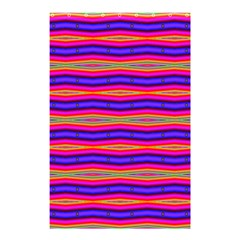 Bright Pink Purple Lines Stripes Shower Curtain 48  X 72  (small)  by BrightVibesDesign
