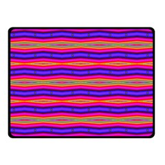 Bright Pink Purple Lines Stripes Double Sided Fleece Blanket (small)  by BrightVibesDesign