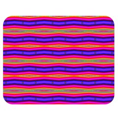 Bright Pink Purple Lines Stripes Double Sided Flano Blanket (medium)  by BrightVibesDesign
