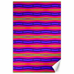 Bright Pink Purple Lines Stripes Canvas 24  X 36  by BrightVibesDesign