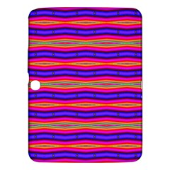 Bright Pink Purple Lines Stripes Samsung Galaxy Tab 3 (10 1 ) P5200 Hardshell Case  by BrightVibesDesign