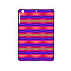 Bright Pink Purple Lines Stripes Ipad Mini 2 Hardshell Cases by BrightVibesDesign