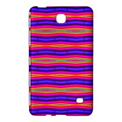 Bright Pink Purple Lines Stripes Samsung Galaxy Tab 4 (8 ) Hardshell Case  by BrightVibesDesign