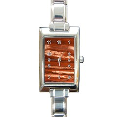 Red Earth Natural Rectangle Italian Charm Watch by UniqueCre8ion