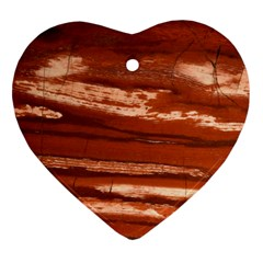 Red Earth Natural Ornament (heart)  by UniqueCre8ion