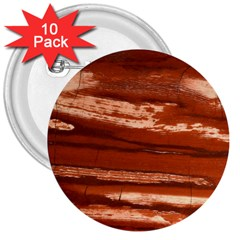 Red Earth Natural 3  Buttons (10 Pack)  by UniqueCre8ion