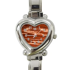 Red Earth Natural Heart Italian Charm Watch by UniqueCre8ion