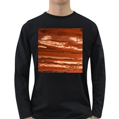 Red Earth Natural Long Sleeve Dark T Shirts by UniqueCre8ion