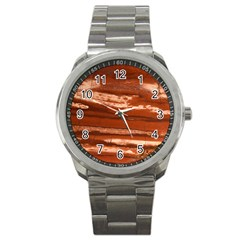 Red Earth Natural Sport Metal Watch by UniqueCre8ion