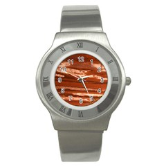 Red Earth Natural Stainless Steel Watch by UniqueCre8ion
