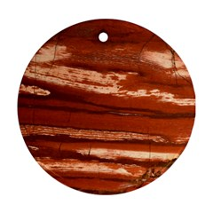 Red Earth Natural Round Ornament (two Sides)  by UniqueCre8ion