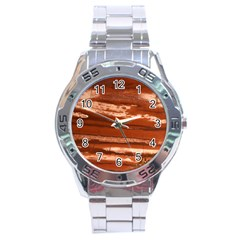 Red Earth Natural Stainless Steel Analogue Watch by UniqueCre8ion