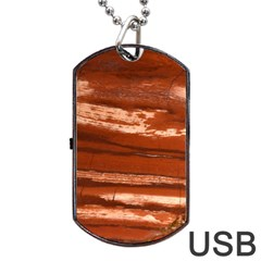 Red Earth Natural Dog Tag Usb Flash (one Side) by UniqueCre8ion