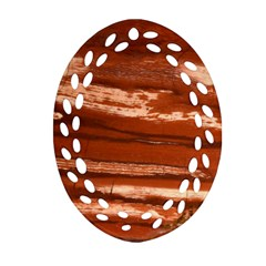 Red Earth Natural Oval Filigree Ornament (2 Side)  by UniqueCre8ion