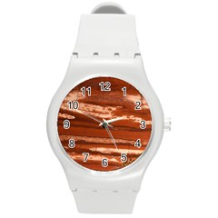Red Earth Natural Round Plastic Sport Watch (m) by UniqueCre8ion