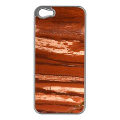 Red Earth Natural Apple Iphone 5 Case (silver) by UniqueCre8ion