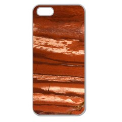 Red Earth Natural Apple Seamless Iphone 5 Case (clear) by UniqueCre8ion