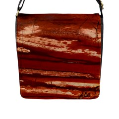 Red Earth Natural Flap Messenger Bag (l)  by UniqueCre8ion