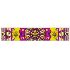 Celebrating Summer In Soul And Mind Mandala Style Flano Scarf (large) by pepitasart