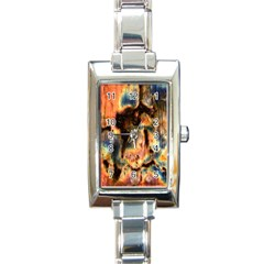 Naturally True Colors  Rectangle Italian Charm Watch by UniqueCre8ions
