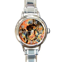 Naturally True Colors  Round Italian Charm Watch by UniqueCre8ions