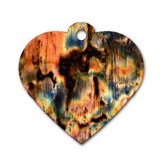 Naturally True Colors  Dog Tag Heart (two Sides) by UniqueCre8ions