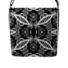 Mathematical Flap Messenger Bag (l)  by MRTACPANS