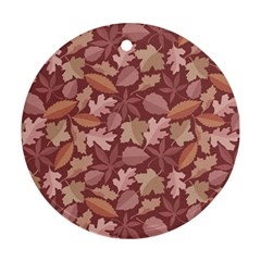 Marsala Leaves Pattern Ornament (Round)