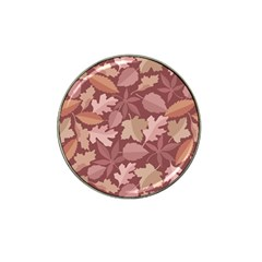 Marsala Leaves Pattern Hat Clip Ball Marker (4 Pack) by sifis