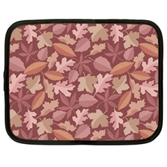Marsala Leaves Pattern Netbook Case (large) by sifis