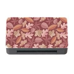 Marsala Leaves Pattern Memory Card Reader With Cf by sifis