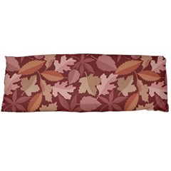 Marsala Leaves Pattern Body Pillow Case (Dakimakura) by sifis