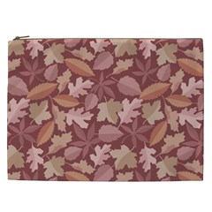 Marsala Leaves Pattern Cosmetic Bag (xxl)  by sifis