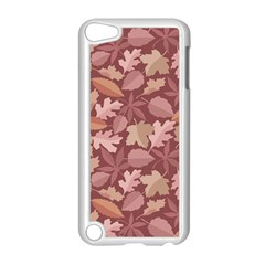Marsala Leaves Pattern Apple Ipod Touch 5 Case (white) by sifis