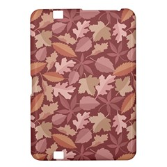 Marsala Leaves Pattern Kindle Fire Hd 8 9  by sifis