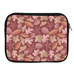 Marsala Leaves Pattern Apple Ipad 2/3/4 Zipper Cases by sifis