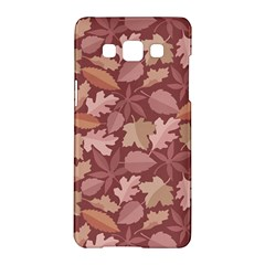 Marsala Leaves Pattern Samsung Galaxy A5 Hardshell Case  by sifis