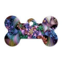 Bright Taffy Spiral Dog Tag Bone (one Side) by WolfepawFractals