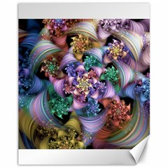 Bright Taffy Spiral Canvas 11  X 14   by WolfepawFractals