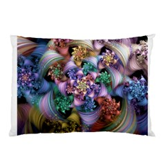 Bright Taffy Spiral Pillow Case by WolfepawFractals