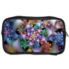Bright Taffy Spiral Toiletries Bags 2 Side by WolfepawFractals