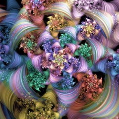 Bright Taffy Spiral Magic Photo Cubes by WolfepawFractals