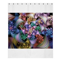 Bright Taffy Spiral Shower Curtain 60  X 72  (medium)  by WolfepawFractals