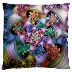 Bright Taffy Spiral Large Flano Cushion Case (two Sides) by WolfepawFractals