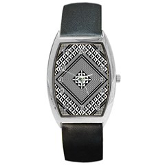 Geometric Pattern Vector Illustration Myxk9m   Barrel Style Metal Watch by dsgbrand